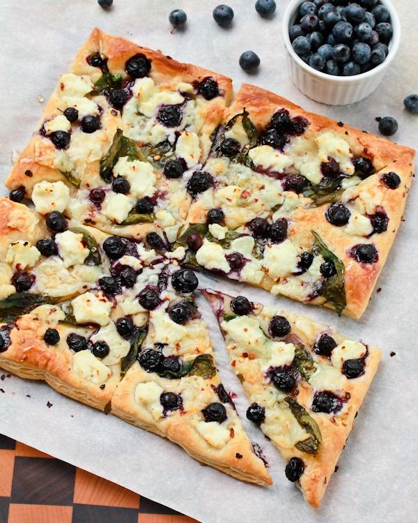 Blueberry Ricotta Pizza