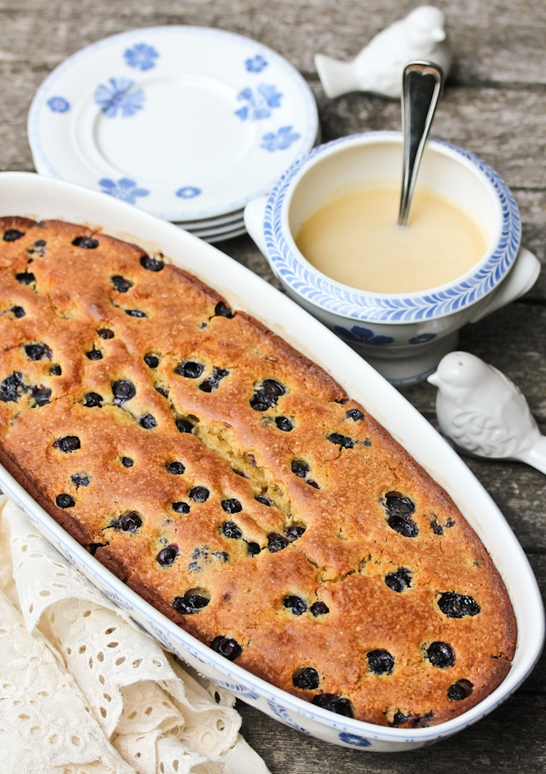Old Fashioned Blueberry Pudding