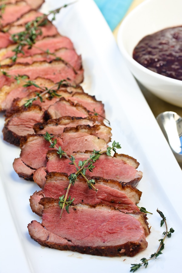 Seared Duck Breasts with Blackberry Pan Sauce