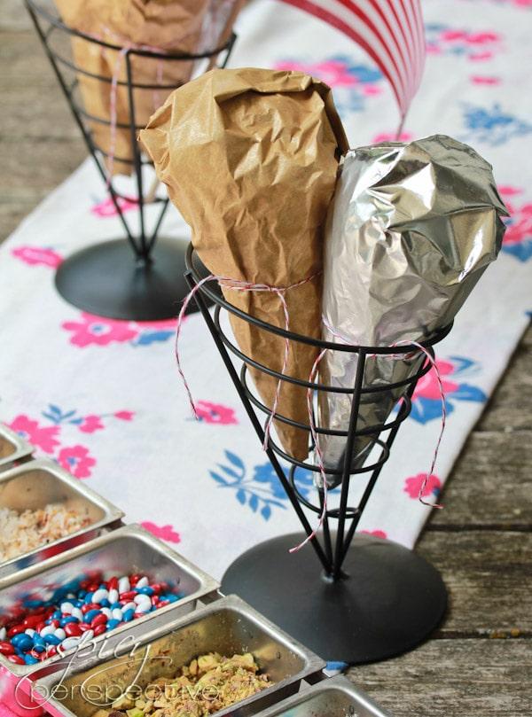 Simple Chocolate Dipped Ice Cream Cones