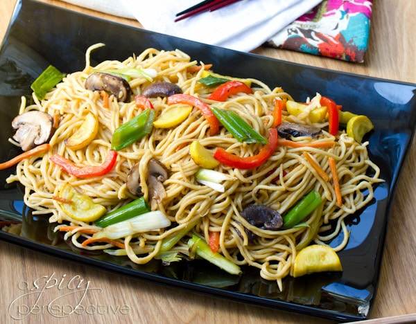 Lo Mein Recipe #ASpicyPerspective #LoMein #LoMeinRecipe #LoMeinNoodles #Noodles #HowtoMakeLoMein #MainDish #Vegetarian #Healthy