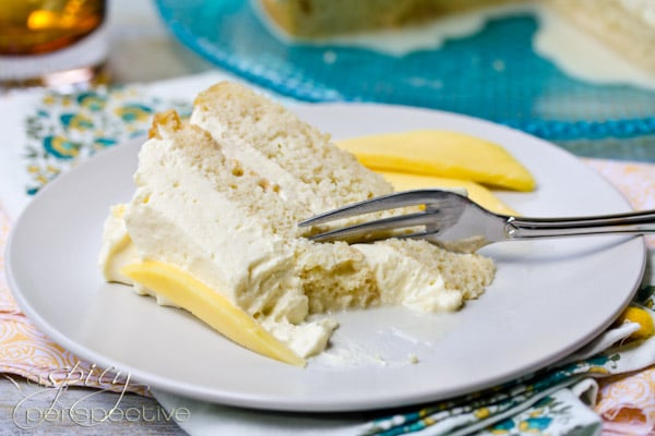 Mango Cream Tres Leches Cake | ASpicyPerspective.com
