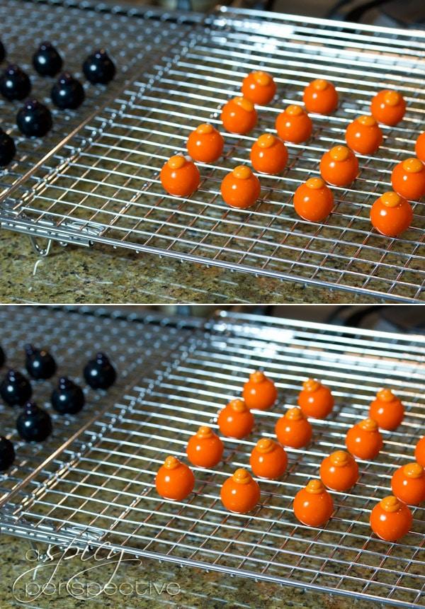 Food Craft: How to Make Gumball Hedgehog Craft | ASpicyPerspective.com #KidFriendly #Halloween #EdibleGifts #Gumballs