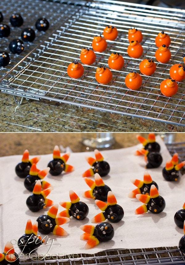 Food Craft: How to Make Gumball Hedgehogs | ASpicyPerspective.com #KidFriendly #Halloween #EdibleGifts #Gumballs