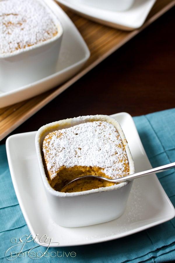 Tender Sweet Potato Souffles   ASpicyPerspective.com #thanksgiving #recipes #sweetpotato
