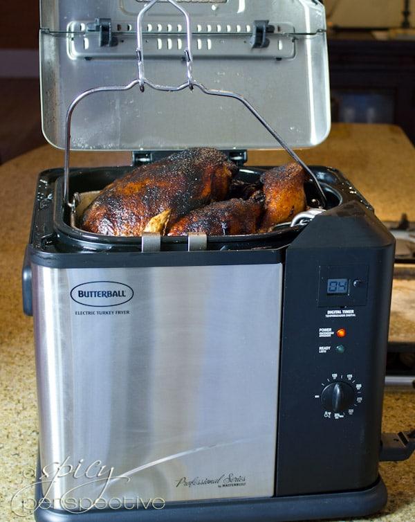 Deep Fried Turkey | ASpicyPerspective.com #thanksgiving #turkey
