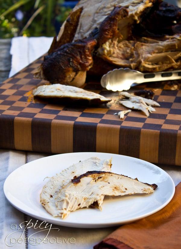 Tender Deep Fried Turkey | ASpicyPerspective.com #thanksgiving #turkey