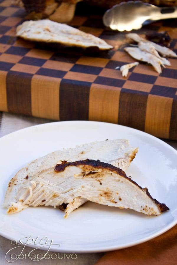 Deep Fried Turkey Recipe | ASpicyPerspective.com #thanksgiving #turkey