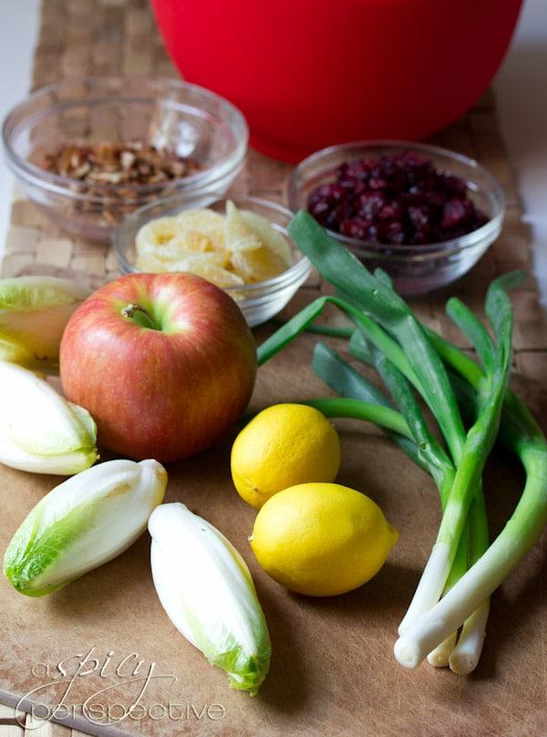 How to make Waldorf Salad | ASpicyPerspective.com #recipe #healthy #holidays
