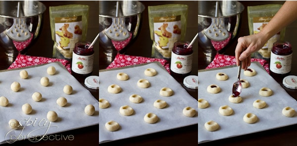 Thumbprint Cookies   ASpicyPerspective.com #cookies #cookieexchange #christmascookies